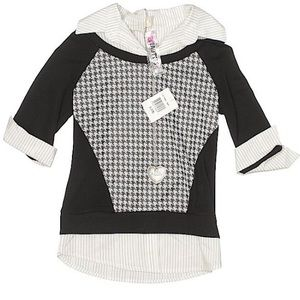 Beautees Top Black White Size Small NWT